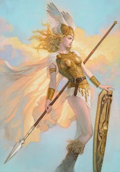 Lets find a tarot card for this character? Valkyrie Brynhildr By Tsuyoshi Nagano Fantasy Girl, Chica Fantasy, Fantasy Warrior, Vikings, Character Inspiration, Character Art, Goddess Art, Athena Goddess, Aphrodite