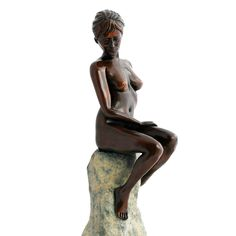Warmth of the Sun Bronze Sculpture - Nude Female Figurine. Buy now at http://www.statuesandsculptures.co.uk/maya-bronze-sculpture-erotic-nude-female-modern-figurine