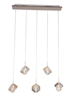 K9 Crystal Bar Pendant Light with 5 Lights Category: Pendant Lights Style: Crystal, Modern/Comtemporary Suggested Space Fit: Dining Room, Kitchen Suggested Space Size: 15-20㎡ Number of Lights: 3~5 Finish: Chrome Materials: Crystal, Stainless Steel Product Dimensions: 65L*11W*14H cm (26L*4W*6H inch) Lamp Type: Halogen