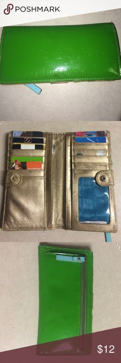 Vintage lime green Kate spade wallet Has been loved dearly and can hold all your credit cards, cash, and change in style. There are imperfections and will be reflected in price kate spade Bags Wallets