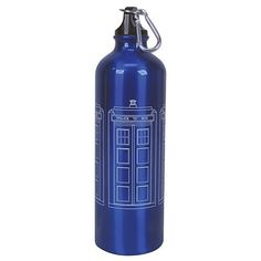 Not Just Toyz - Doctor Who TARDIS 750 ml Water Bottle, $12.99 (http://www.notjusttoyz.com/doctor-who-tardis-750-ml-water-bottle/)