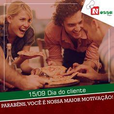 Hoje é dia de homenagearmos a vocês, nossa maior motivação.  Parabéns e obrigado por nos escolher!    Nós atendemos e reservamos das terças aos domingos a partir das 18 horas.  #nossapizza #delivery #reservas #atendimento #terçasaosdomingos #pizza #delícia #pediuchegou #surpreenda #peçajá #vontadedecomer  Nosso Delivery: (65) 3023-7080  Nossa Pizza Centro  Av. Presidente Marques , N°830, Centro Norte  Cuiabá, MT