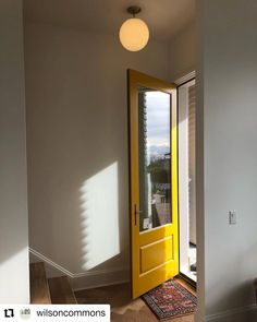 Hello Yellow! A bright and sunny entry way by Wilson Commons with a custom Westeck exterior door. 😍 #multifamilyhomes #customdoors #yellowdoors #glassdoors #doordesign #welcome #beautifulhomesofinstagram Exterior Doors, Entry Doors, Wood Doors, Entryway, Yellow Doors, Multi Family Homes, Door Design, Windows And Doors, Glass Door