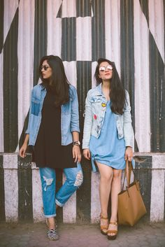 Ideas Fashion Week Street Style Denim Posts For 2019 Casual College Outfits, Trendy Outfits, Summer Outfits, Cute Outfits, Holiday Outfits, Casual Indian Fashion, Trendy Fashion, Trendy Style, How To Wear Denim Jacket
