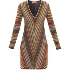 Missoni Stripe dress ($1,111) ❤ liked on Polyvore