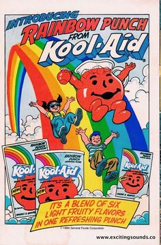 Rainbow Punch from Kool-Aid Cartoon Wallpaper, Trippy Wallpaper, Retro Wallpaper, Hippie Wallpaper, Bedroom Wall Collage, Photo Wall Collage, Picture Wall, Room Posters, Poster Wall