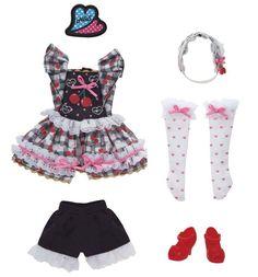 Licca chan Doll Clothes Harajuku girl cherry dress Japan Takara Tomy outfit wear…