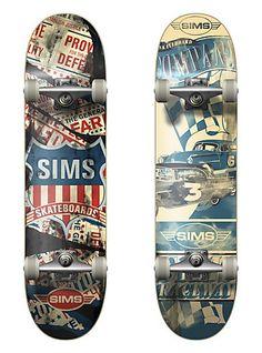 SIMS skateboard decks - Super Top Secret's Illustration