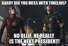 The Flash easily one of the top ten favorite of every fanboy of DC universe. Barry Allen aka The Flash made his debut way back in the year also the memes have become too Dc Memes, Funny Memes, Hilarious, Funny Sayings, Flash Comics, Dc Comics, Arrow Memes, Arrow Funny, Funny Yearbook
