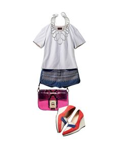 Denim Pants Styling톡톡 튀는 컬러에 러블리한 스타일