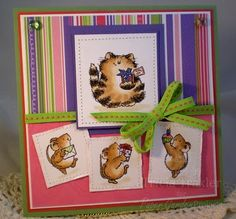 Penny Black - It's Your Day stamp set was used to make this adorable card.  I love the layout!