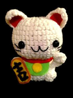 Amigurumi Lucky Cat by ChibiHut on Etsy, $10.00