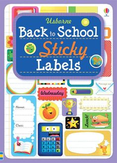 Back to school sticky labels.  Over 400 fun stickers perfect for labelling and making your supplies personal. Great way to engage your child in preparing for the new school year. $15.95 http://usborneonline.ca/catalogue/browse.asp?org=109055=1=1=sb=sbsl=6229#