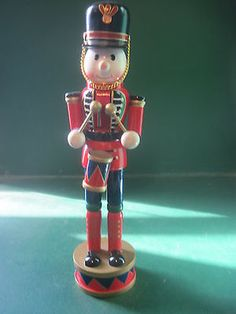 "12"" WOOD DECOR/NUTCRACKER DRUMMER IN RED  $8.70"