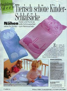 Nap Sacks Great idea for kids, with pattern
