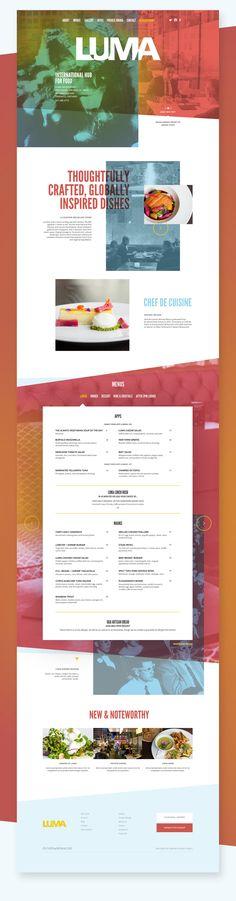 Luma Restaurant Website by Agency Dominion on Behance