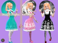 Studio K Creation — Bloody Lilith-Lolita outfit [TS4] fullbody dress...