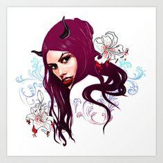 Vampire Art Print by Agnieszka Antosiewicz - $17.68