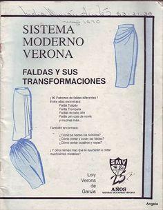 Diseño, Patronaje y Costura: Descarga #14 Sistema Moderno Verona: Faldas y sus transformaciones gratis!