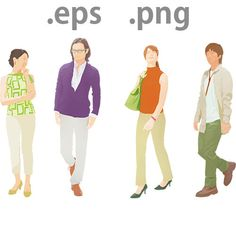 People illustration for advertisement and architecture. It can be used for commercial purposes. The file format is EPS and PNG.