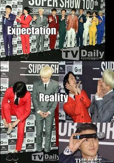 When Reality ruins your expectation: SJ's level