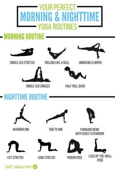 Check out these morning and evening yoga routines that you should start doing every day! #yoga #yogaeverydamnday #yogaeveryday #yogaworkouts #fitnessroutine