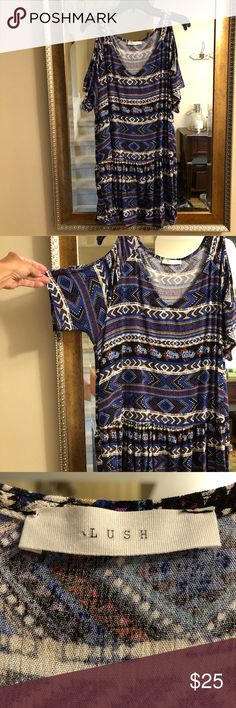 836a95c45f Excellent condition from smoke-free home. Mlle Gabrielle Dresses. See more.  Lush Cold Shoulder Tunic Dress Fun cold-shoulder dress is also adorable  with ...