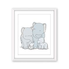 Elephant Nursery Art : And baby makes four. This sweet little elephant family welcomes a new little one. *frame NOT included You can CUSTOMIZE this print to any colors you choose, either from the color chart or a picture or link, just let me know and I can create a custom listing for you! *Be sure to select your size in the drop down box above. Here at Sweet Melody Designs we love creating sweet art for your little ones space. We believe in encouraging the imagination of children and giv...