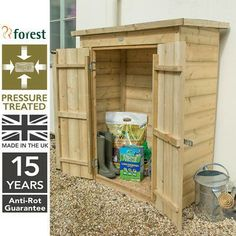 Wooden Pressure Treated Sheds - Aston Shed Shop Garden Buildings, Garden Structures, Shed Storage, Small Storage, Hidden Door Hinges, Roof Shapes, Wooden Sheds, Double Doors, Treats