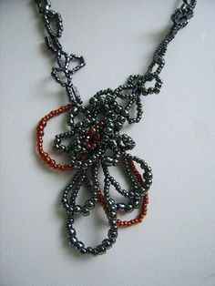 Free form necklace ANASTASIA exclusive creation by MoniqueBijoux