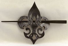 Hey, I found this really awesome Etsy listing at https://www.etsy.com/listing/177243648/celtic-fleur-de-lis-leather-steampunk
