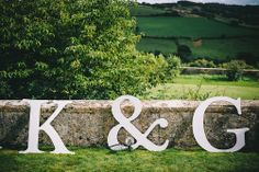 Remember our names... Achieve wedding fame with cute outsize letters, like these from a real wedding in issue 41 of Your Bristol and Somerset Wedding (www.yourbristolsomersetwedding.com). Image credit www.martinskikulis.com