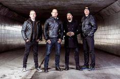Volbeat with the new Bassplayer Kaspar Boye Larsen(left)