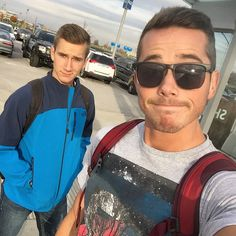 Waiting for a bus to take us to a plane  - markemiller7715's photo on Instagram Mark And Ethan, Gay Couple, Mens Sunglasses, Couples, Plane, Waiting, Instagram, Man Sunglasses, Airplane