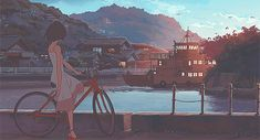 Find images and videos about anime, background and scenery on We Heart It - the app to get lost in what you love. Wallpaper Kawaii, Kawai Japan, Anime Gifs, 8bit Art, Japon Illustration, Image Manga, Old Anime, Aesthetic Gif, Anime Scenery