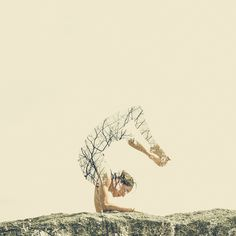 With The Help Of Yoga Instructors, I Create Surreal Photos That Blend Human Body With Plant Forms Yoga Images, Yoga Pictures, Double Exposure Photo, Yoga Logo, Mudras, Surreal Photos, Yoga Art, Yoga Quotes, Quotes Quotes