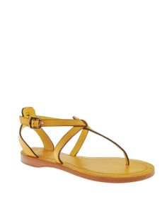 cute yellow sandals