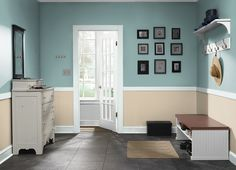 This is the project I created on Behr.com. I used these colors: VENUS TEAL(PPU13-08),BAJA(PPU7-08),OCEAN BOULEVARD(PPU13-10),FRESH DAY(PPU13-17),