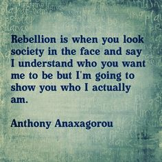 Rebellion. Non violent, non conformist rebel. Guide.