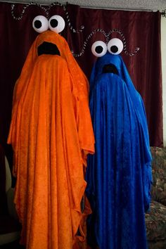 Cheap Homemade Halloween Costumes |Get styrofoam for the eyeballs and pipe cleaners for the antennae. You will also need lots of material to drape over yourself. You'll need to make sure the mouth area is a black mesh material, so you'll be able to see from the inside of the costume.