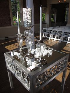 Elegant Unity Candle arrangement