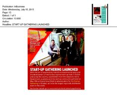 """In business: """"Startup Gathering launched"""""""