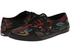 Vans Authentic™ Lo Pro (Tapestry Floral) Black/Black - 6pm.com