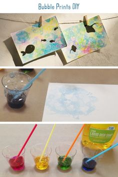 Bubble Prints DIY. Test out a new watercolor technique by painting with bubbles…