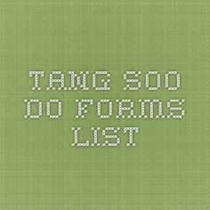 46 best tang soo do tips images on pinterest marshal arts martial tang soo do forms list fandeluxe Images