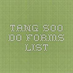 Tang Soo Do forms list