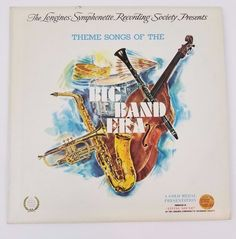 Items similar to Theme Songs Of The Big Band Era - Various - Vinyl Record album LP - 1973 - Longines Symphonette Society - LW 206 on Etsy Classic Album Covers, Auld Lang Syne, Vinyl Cover, Down South, Theme Song, Vinyl Records, Songs, Band, Lp