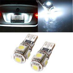 Hot Sale T10 194 168 W5W 5 LED 5050 SMD White Car Auto Side Wedge Light Lamp Bulb DC12V Car Light Source