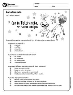 La tolerancia - Naomi For Kids Spanish Teaching Resources, Teacher Resources, Speech Language Therapy, Speech And Language, Foreign Language, Learning Quotes, Learning Activities, Learning Sight Words, Grammar Book