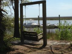 View of Red Bird Creek at Savage Island Campground at Fort McAllister.